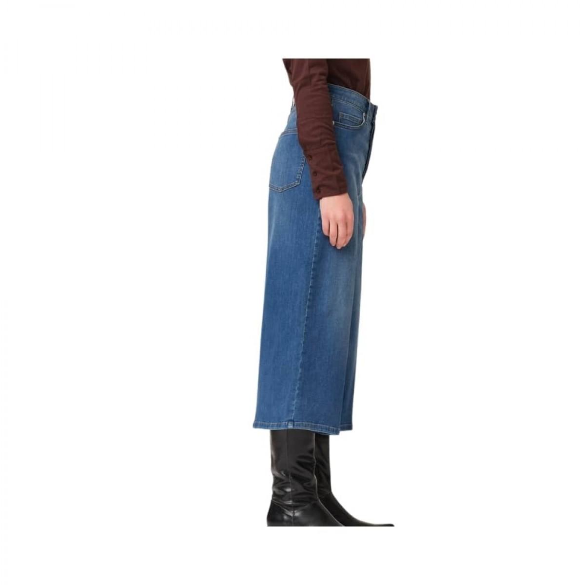 mandela culotte jeans - blue - model fra siden
