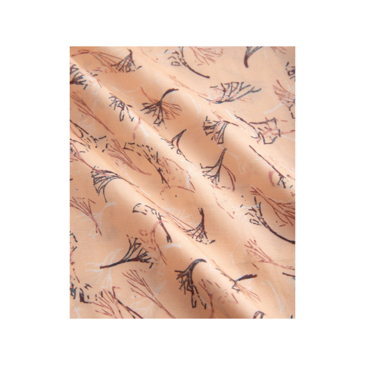 nanna bukser - straw print frappe - print detalje