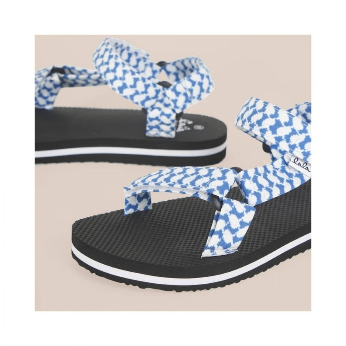 sandals alanis - blue - print detalje