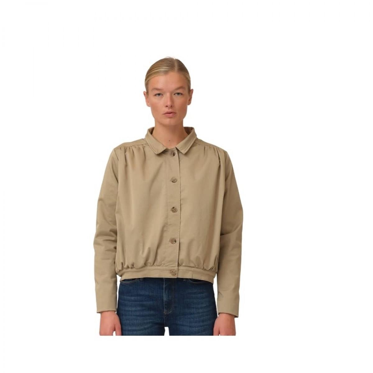 greta cropped jacket - camel