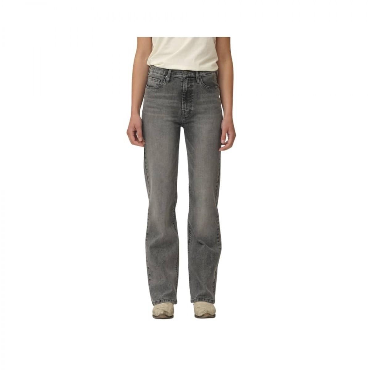 bowie hw cropped jeans - grey - model detalje