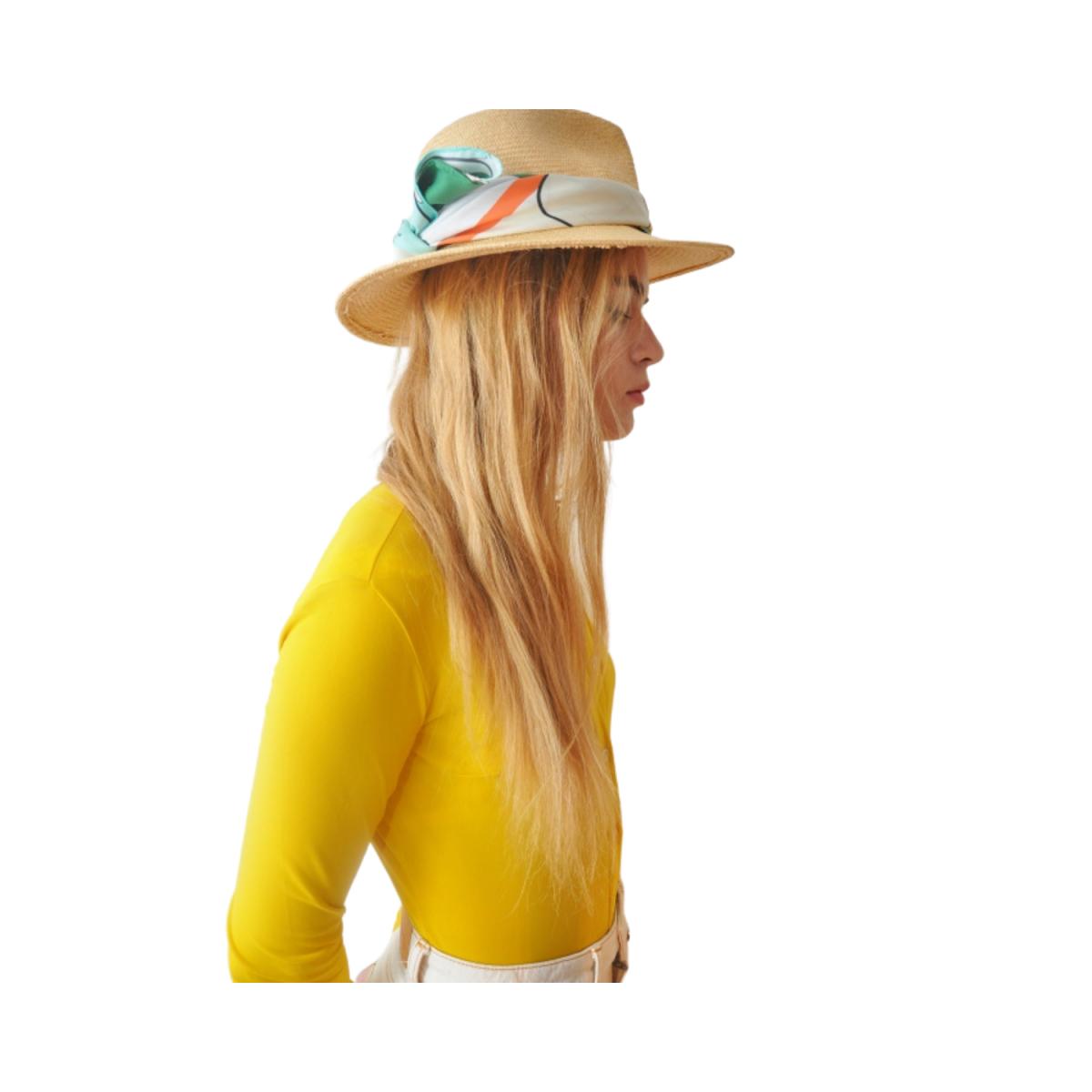 arty silke tørklæde - bånd på hat