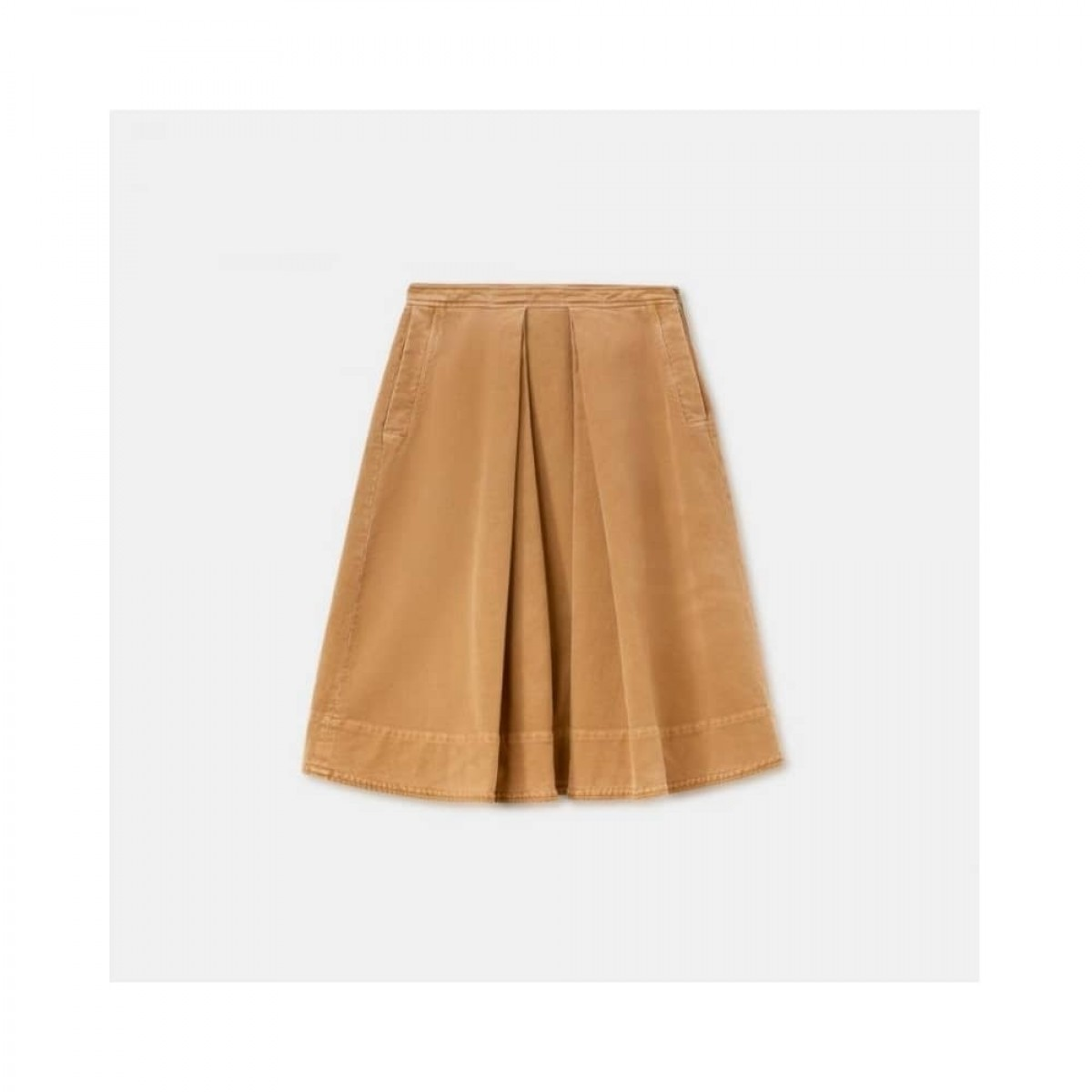 gonna moleskin nederdel - bronze - front