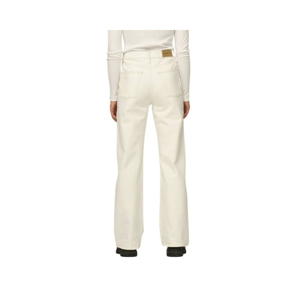 brown straight jeans - ecru - model bagfra
