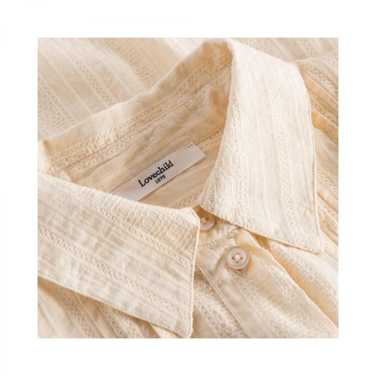 romala shirt - cream - krave detalje