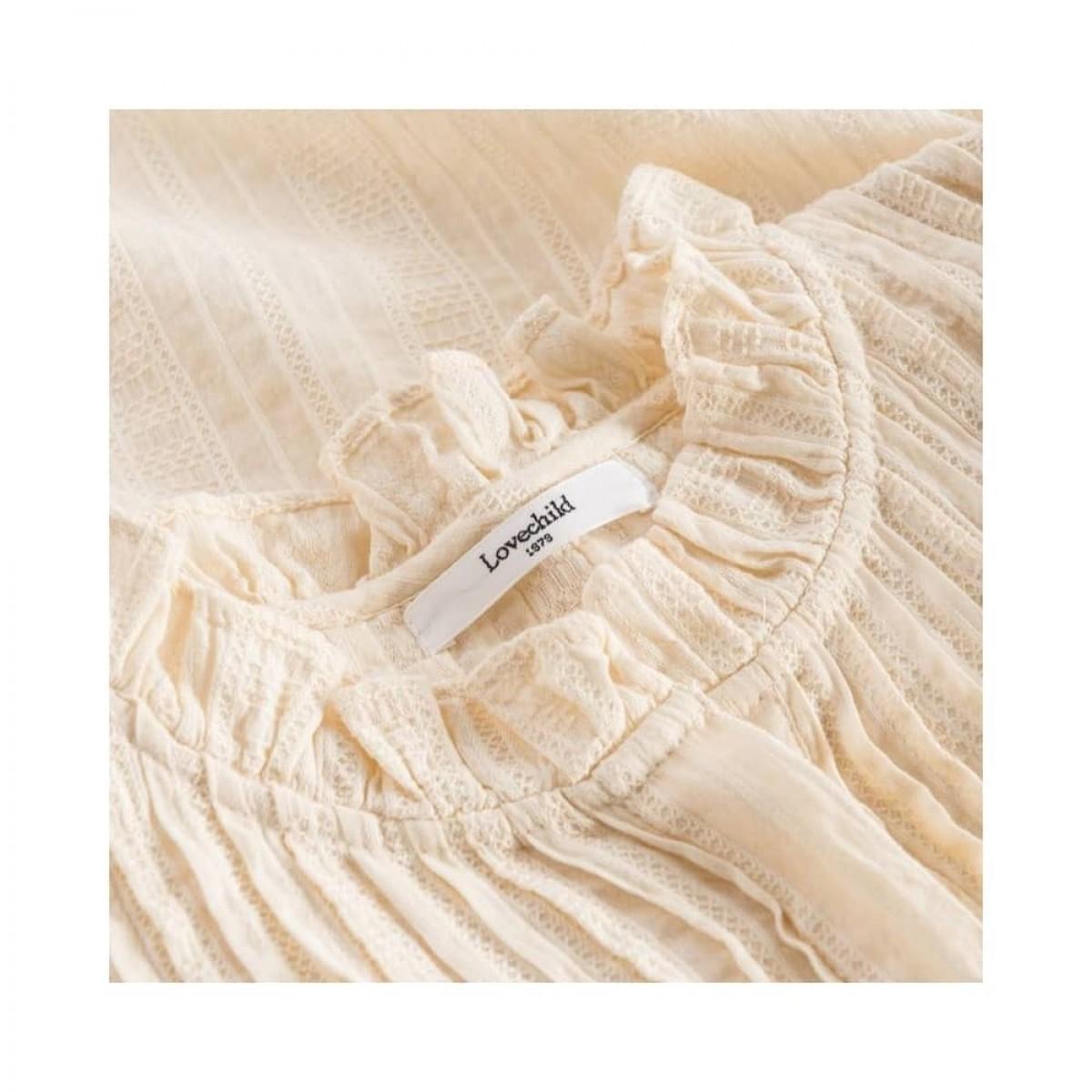 isabel bluse - cream - krave detalje