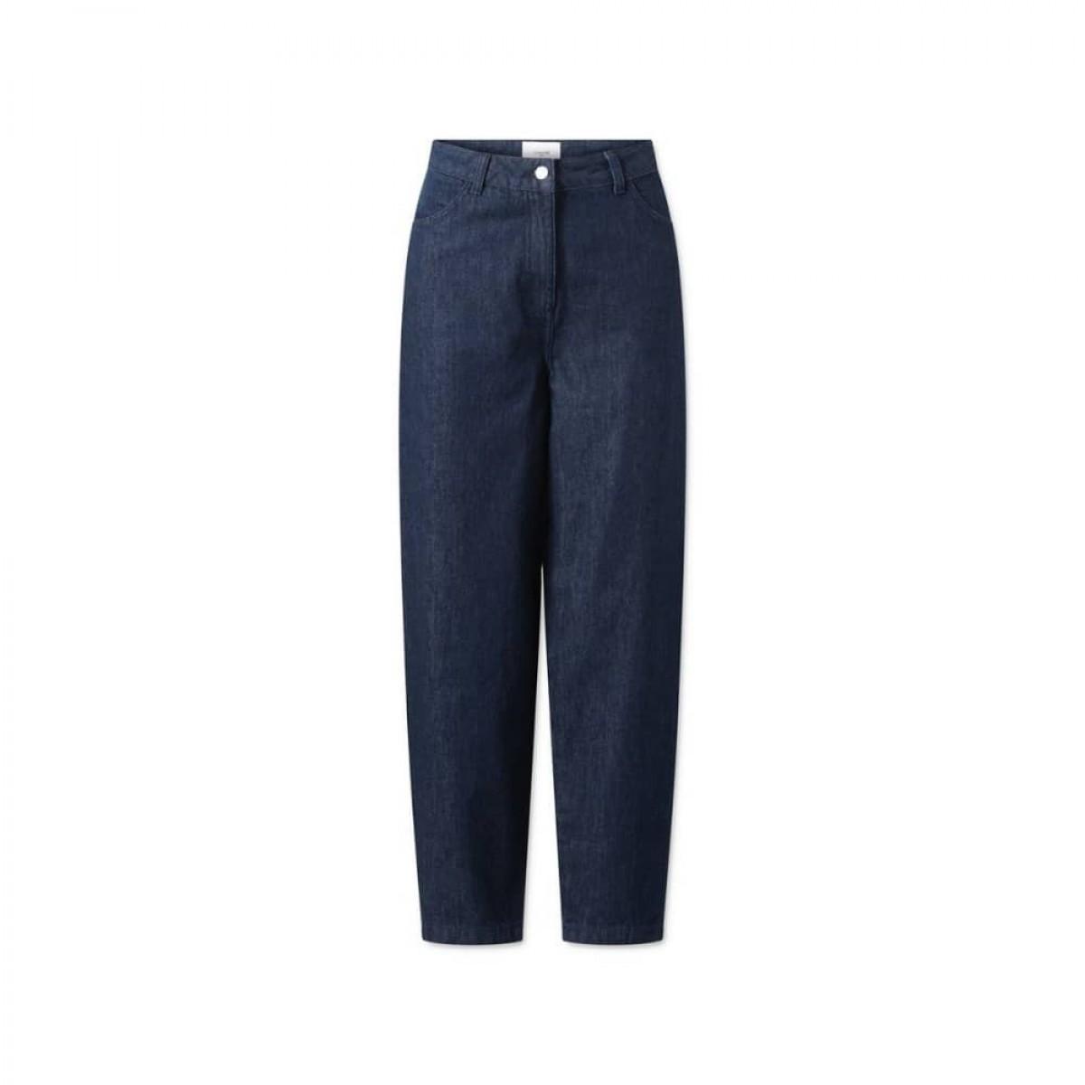 aston pants - denim blue - front