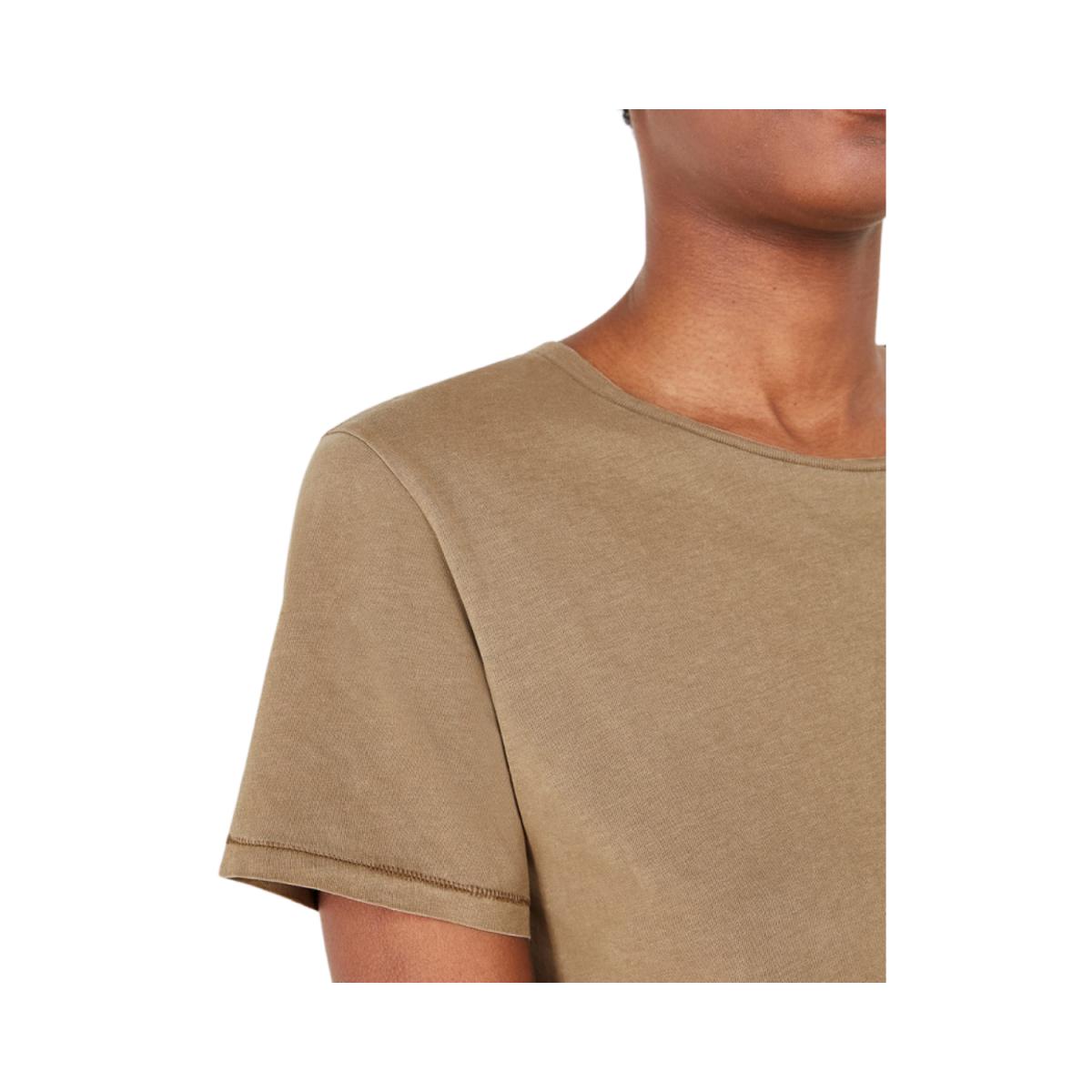vegiflower t-shirt - camel - detalje billede