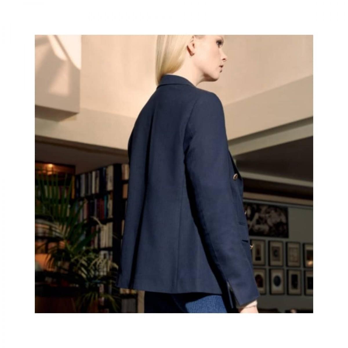 beatrice blazer - dark navy -model ryggen
