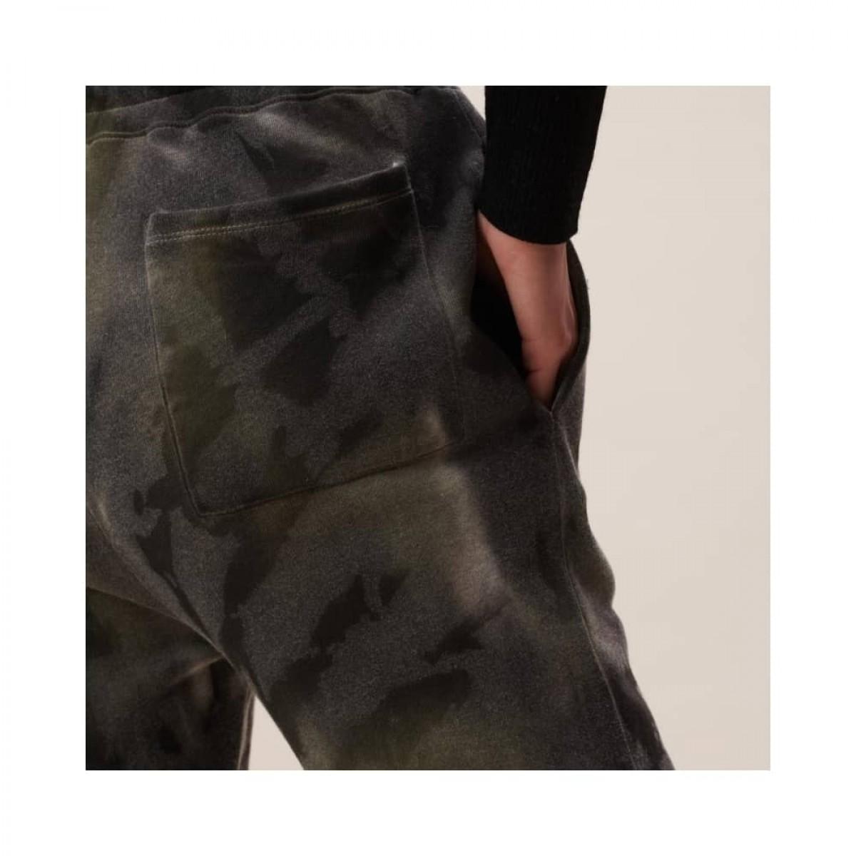 yetka sweat bukser - olive tiedye - model lomme detalje
