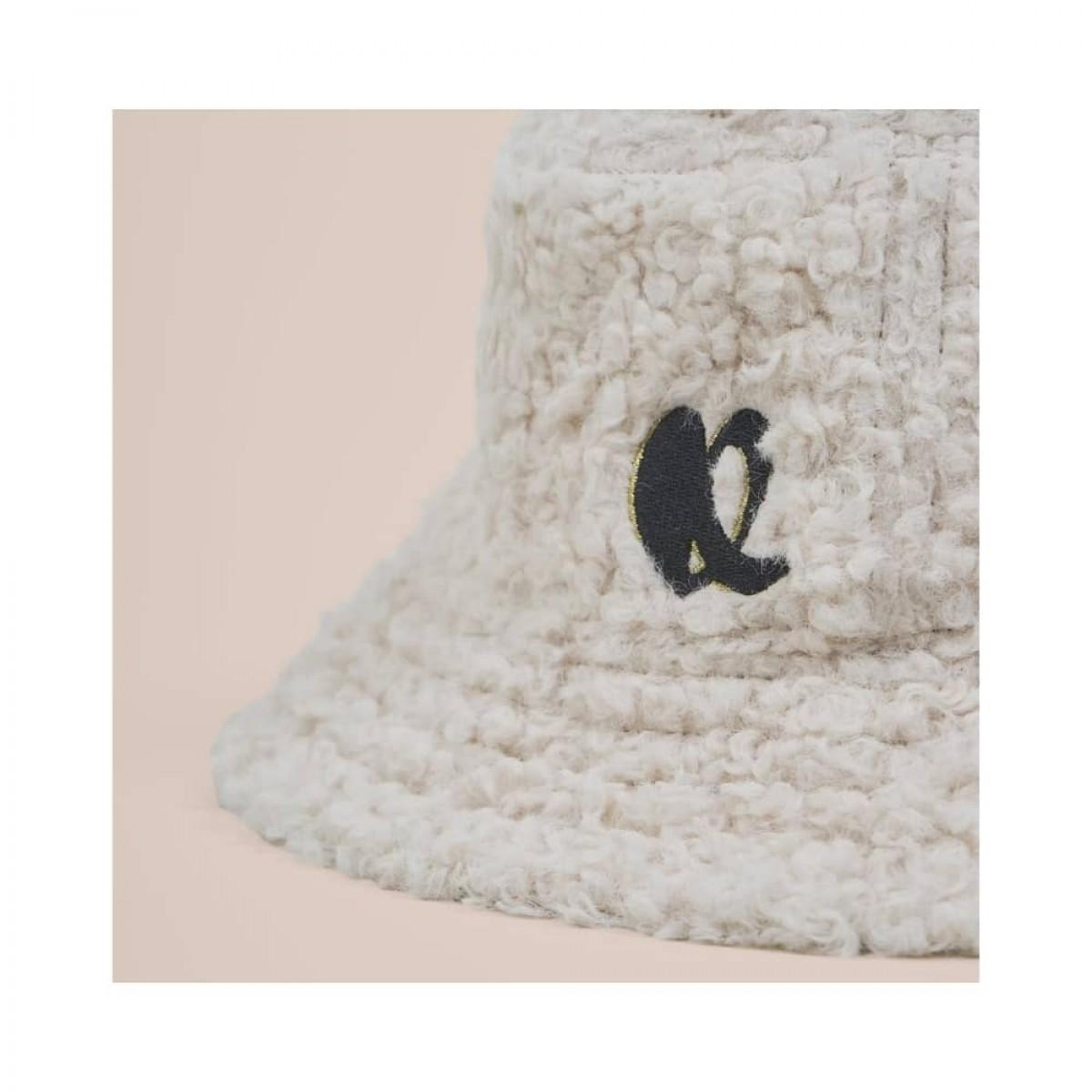 hat alicia reversible - black - teddy side