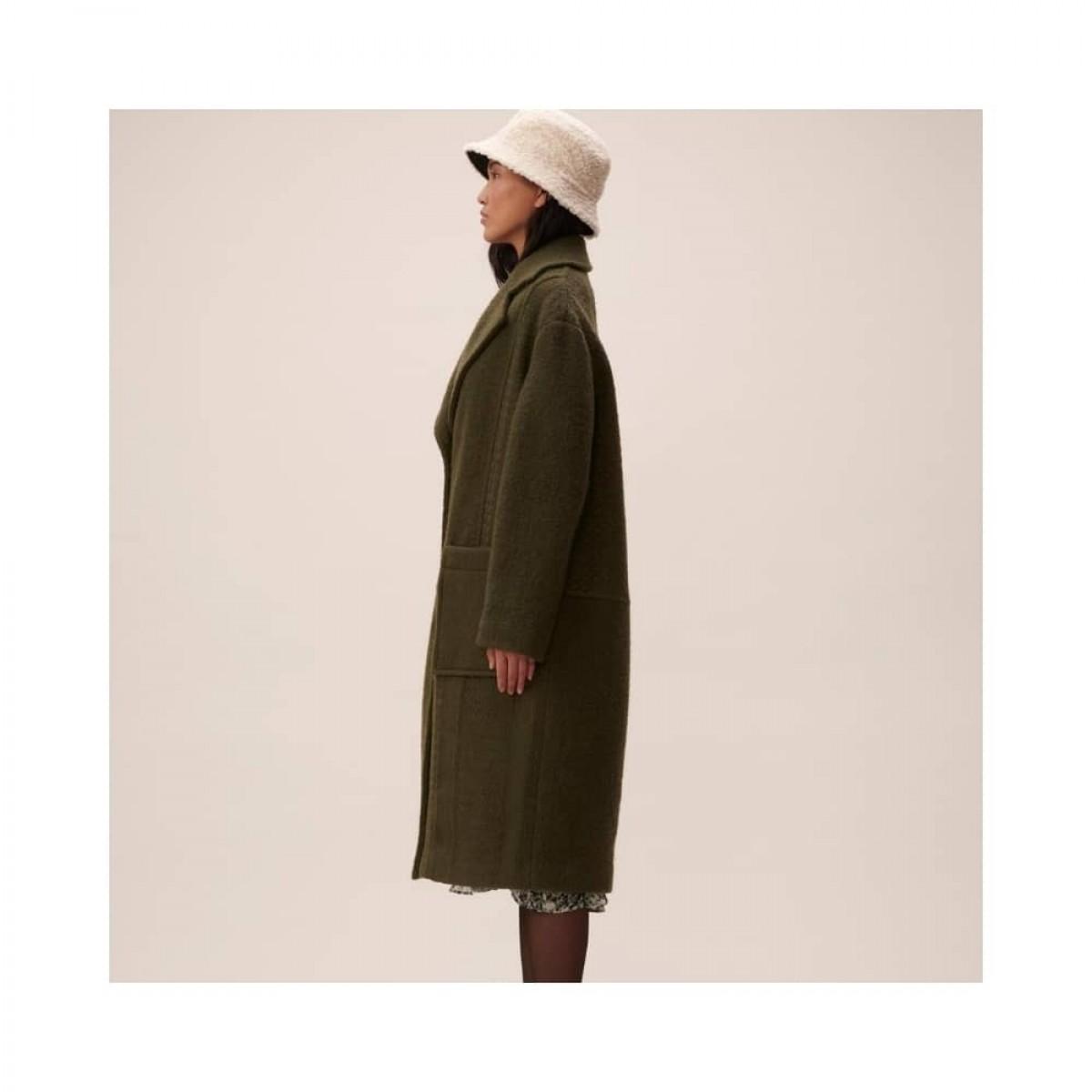 coat chayenne - olive - model fra siden