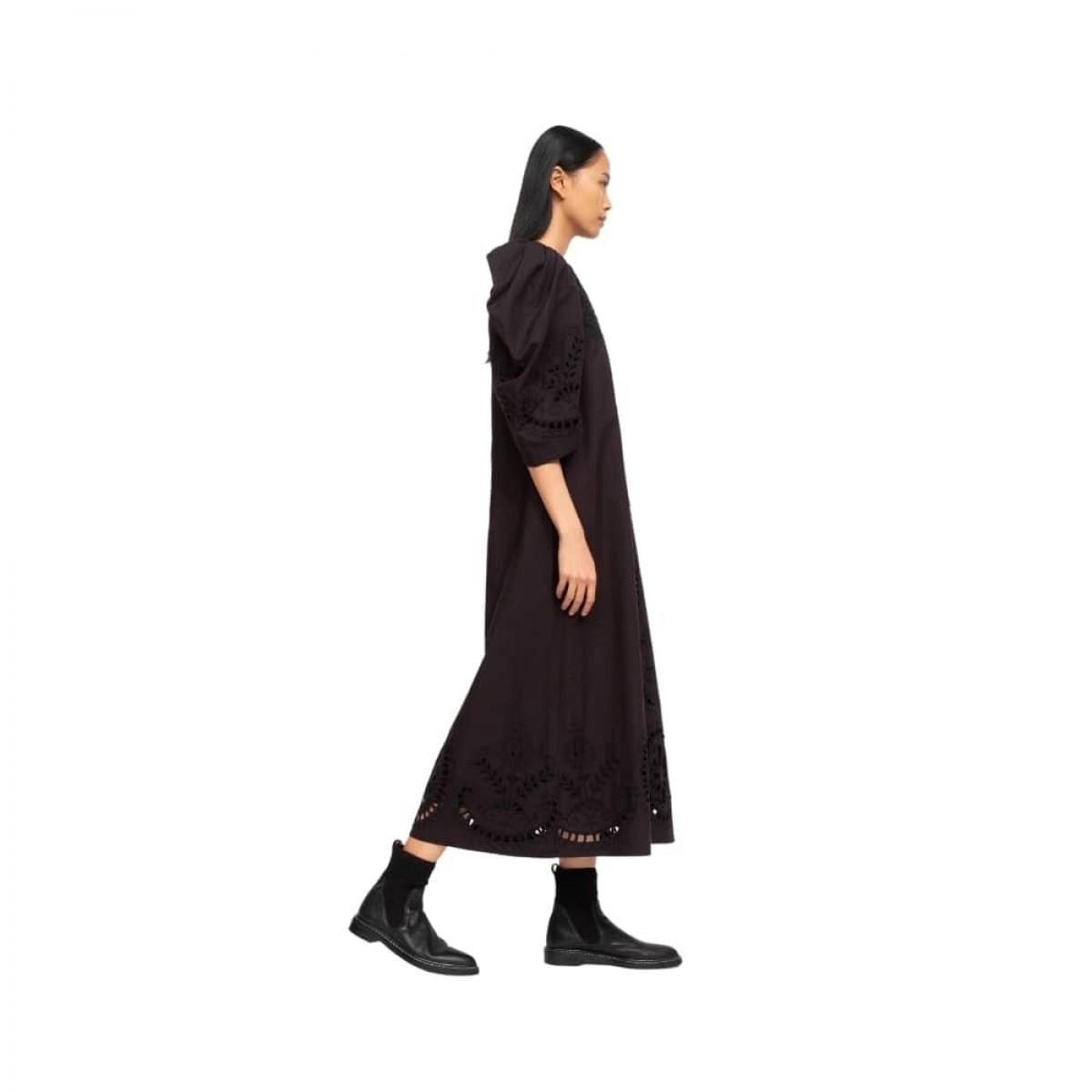 santos eyelet dress - black - model fra siden