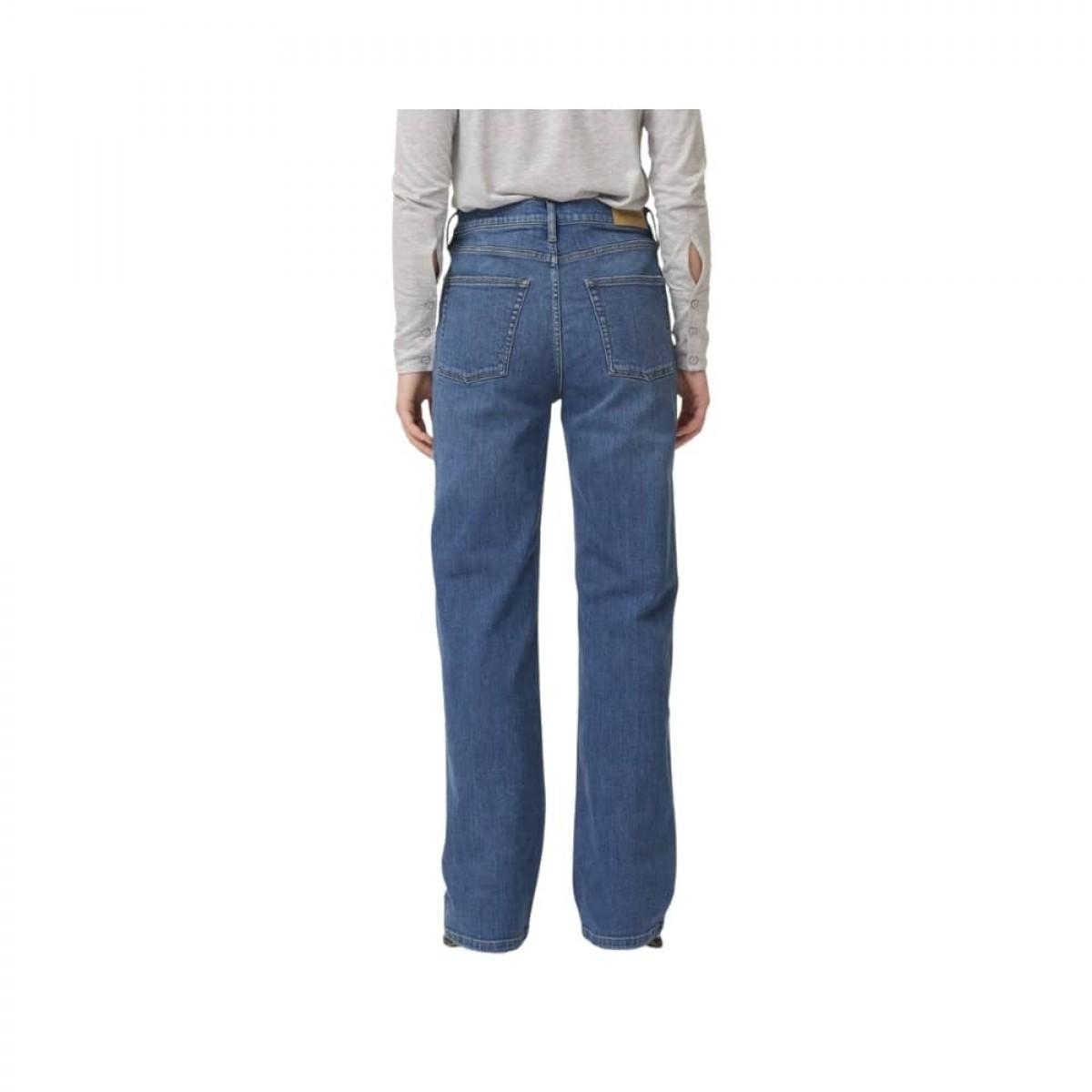 brown straight jeans - prato - denim blue - model bagfra