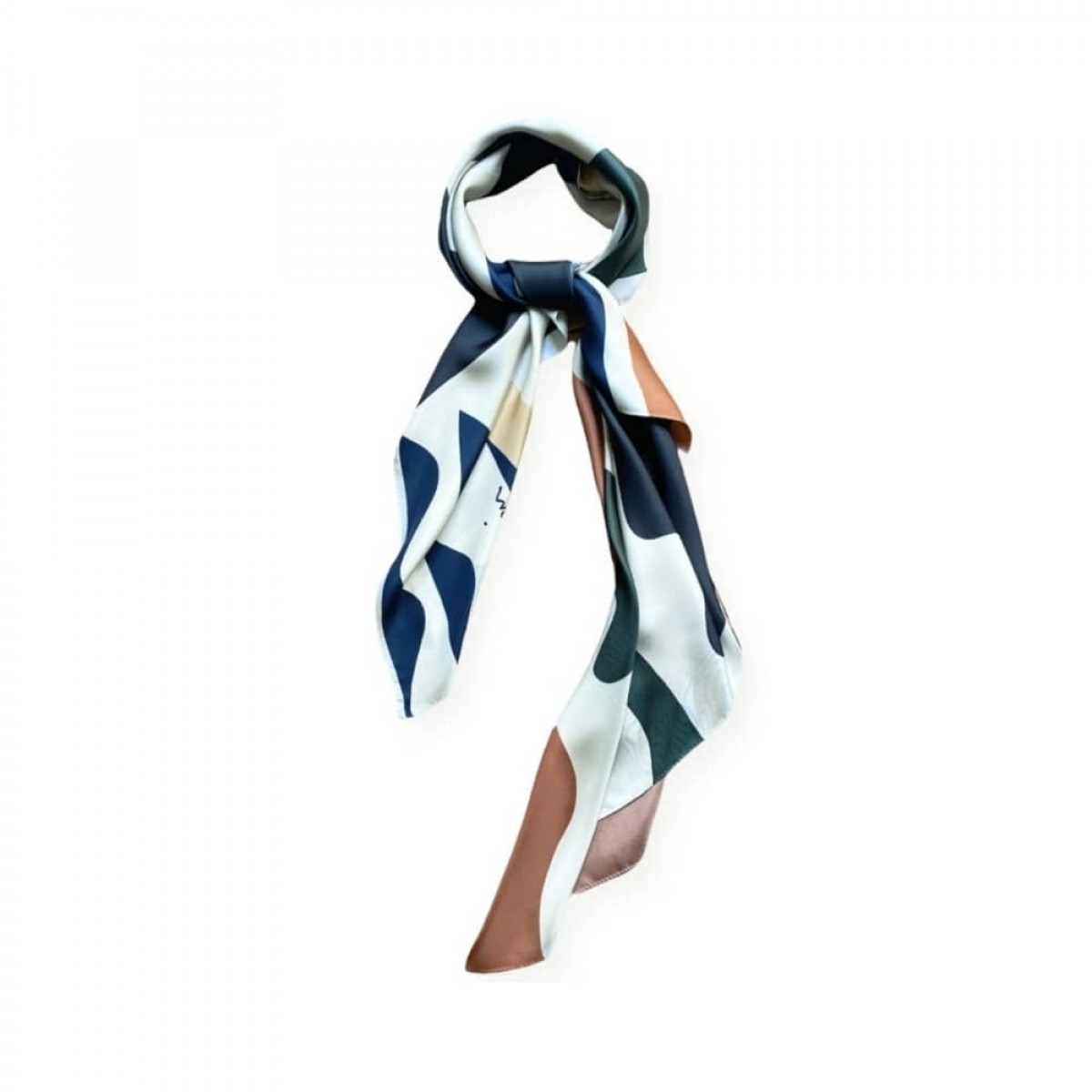 manrique silke tørklæde - kaki - detalje 1