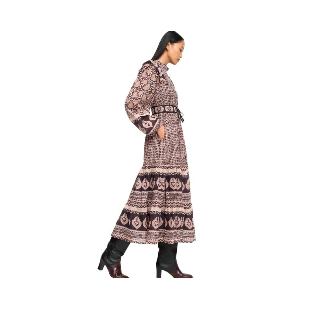 margo border dress - lilac - model fra siden
