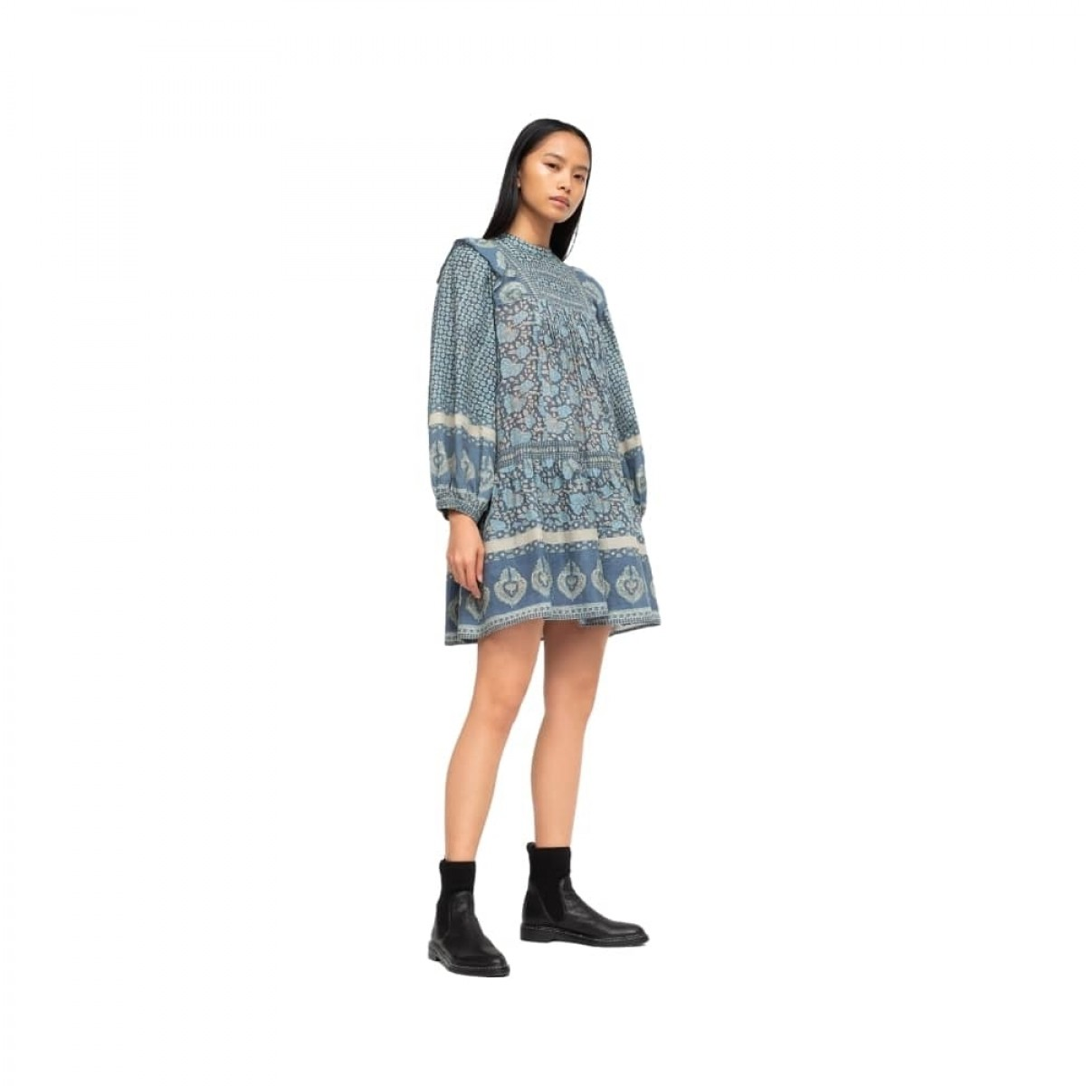 margo border tunic dress - ocean