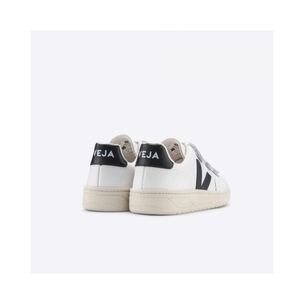 v-lock leather - extra white with black - bagfra