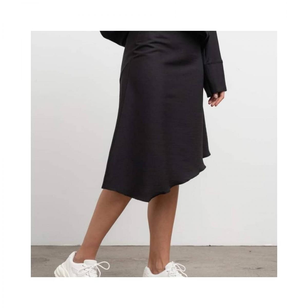 dina wool skirt - black - model nederdel