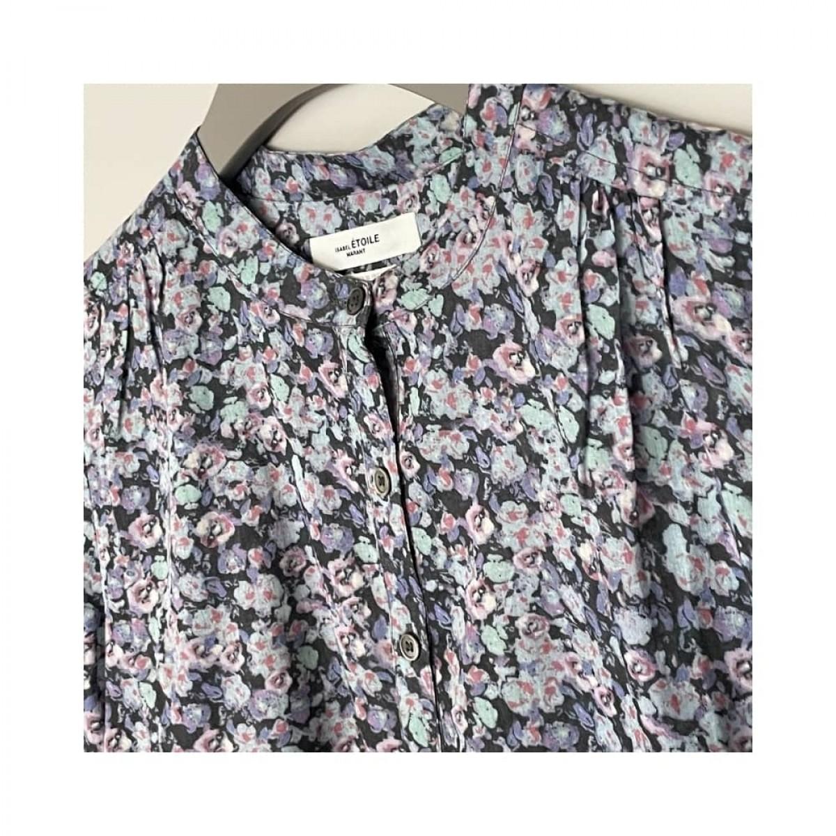 maria skjorte - multi color - print detalje
