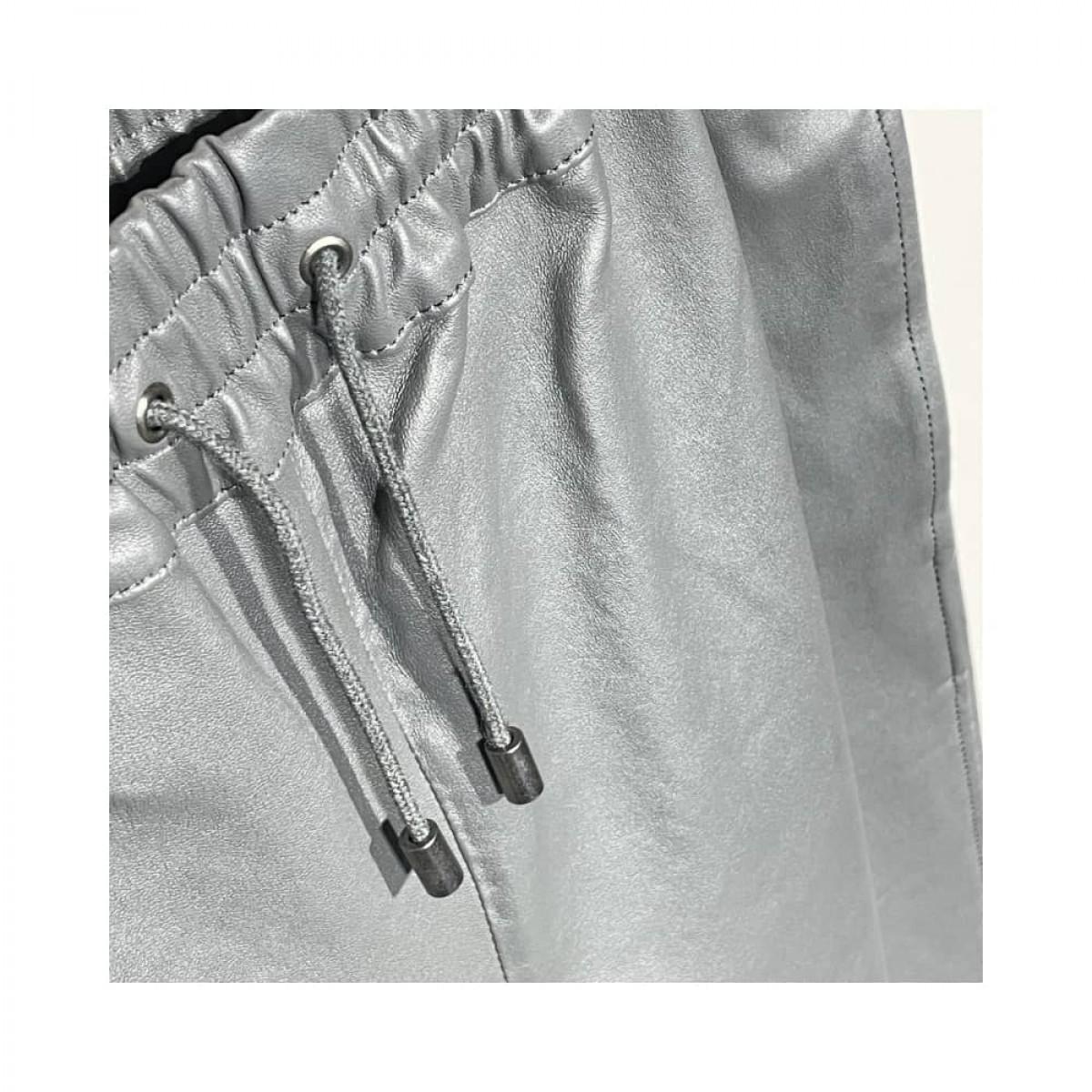 skind bukser - gris - elastic detalje