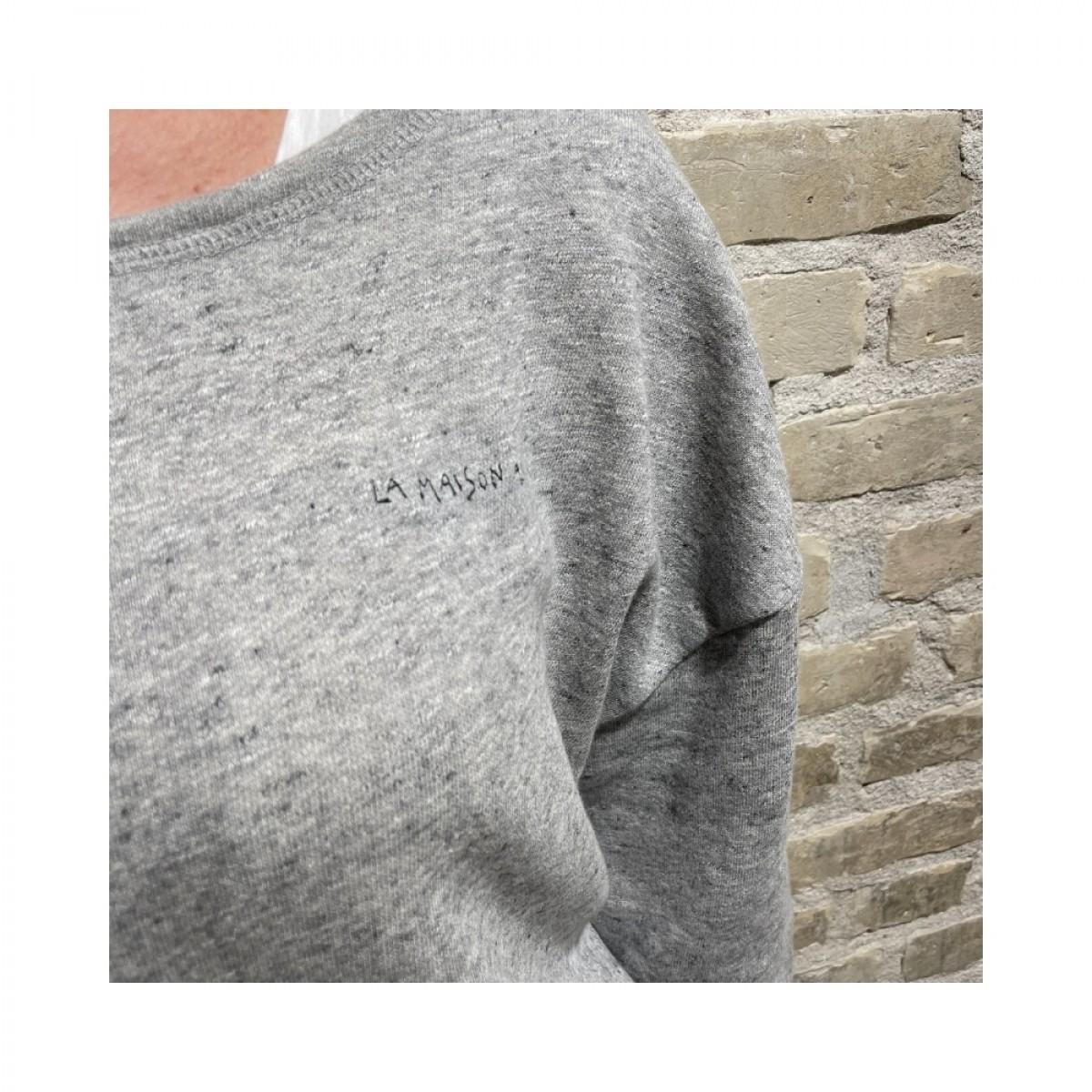 najabay sweat shirt - heather grey - detalje