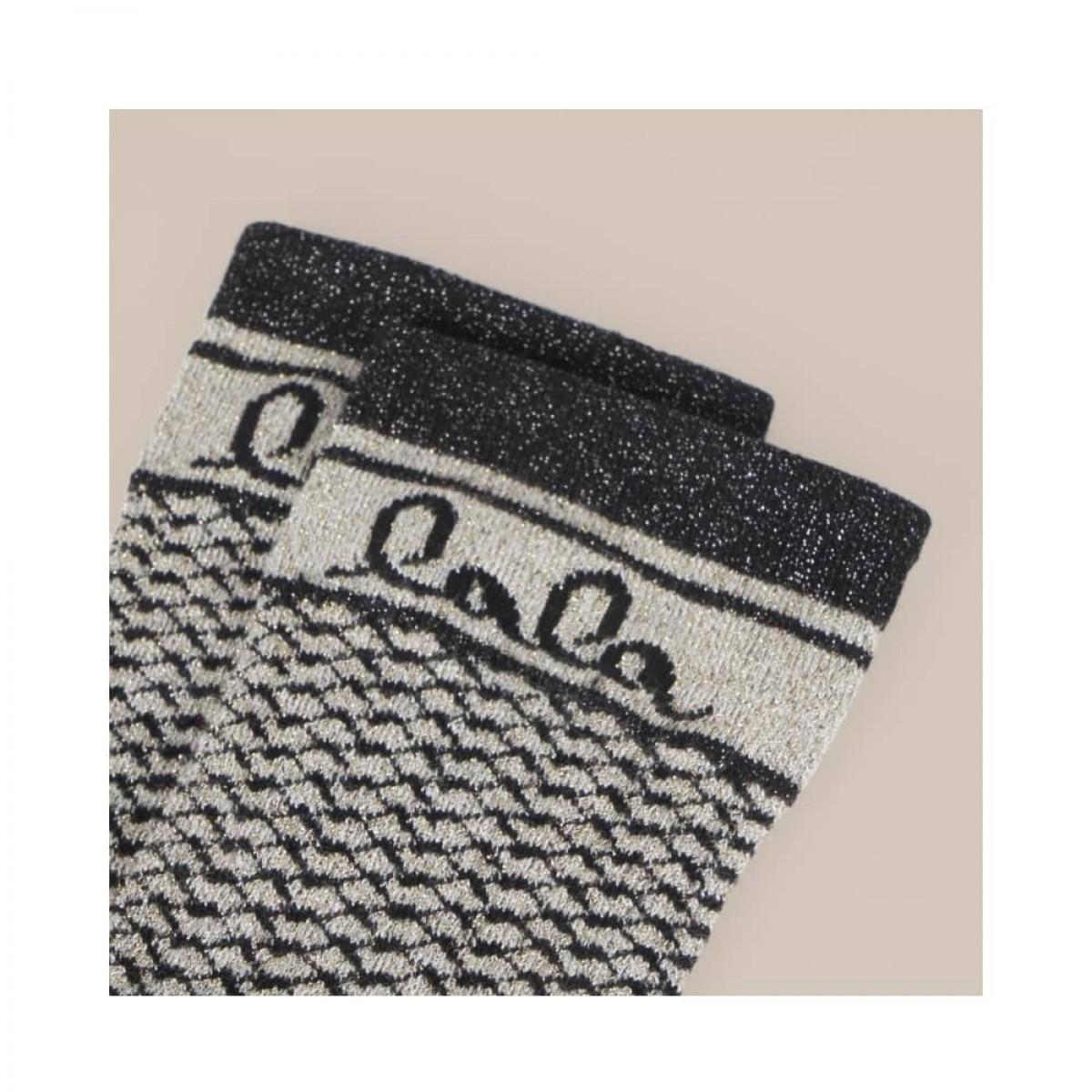 silja socks - camel black kufiya - logo