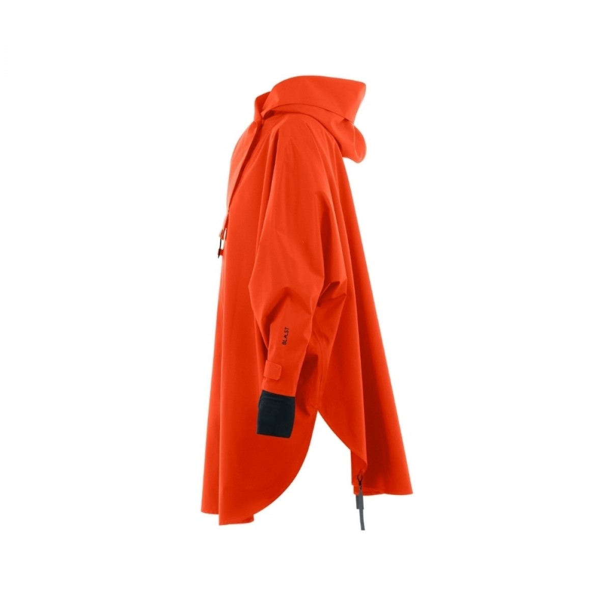 bergen regn poncho orange - siden