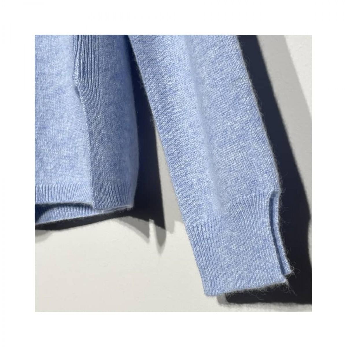 becka strik - light blue melange - slids ved ærmer