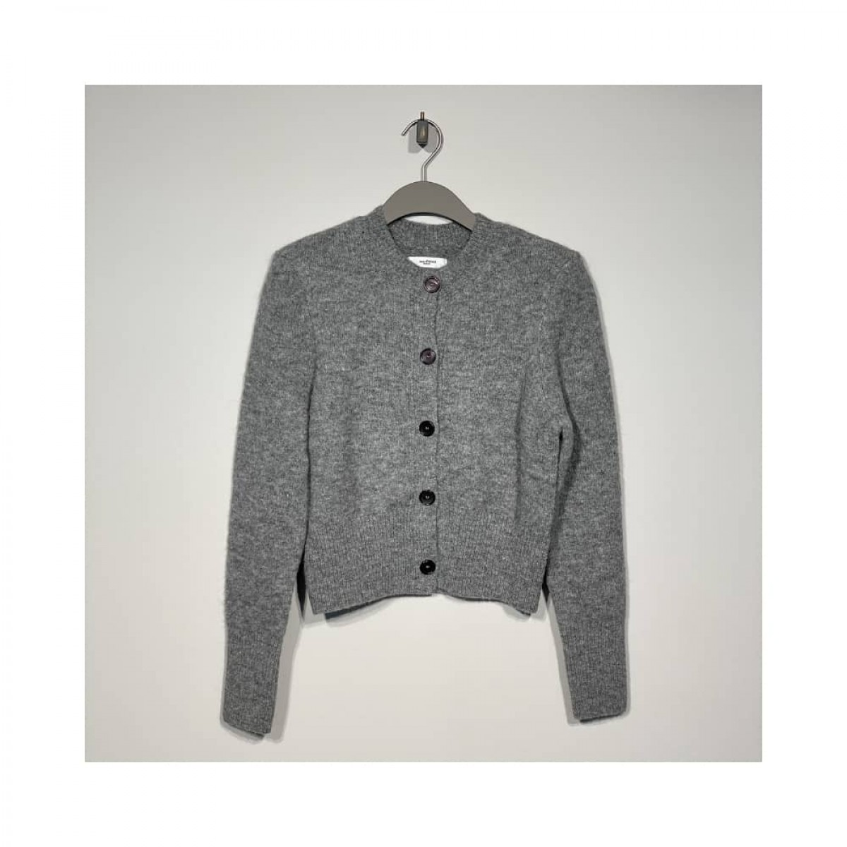 hudson cardigan - grey - front
