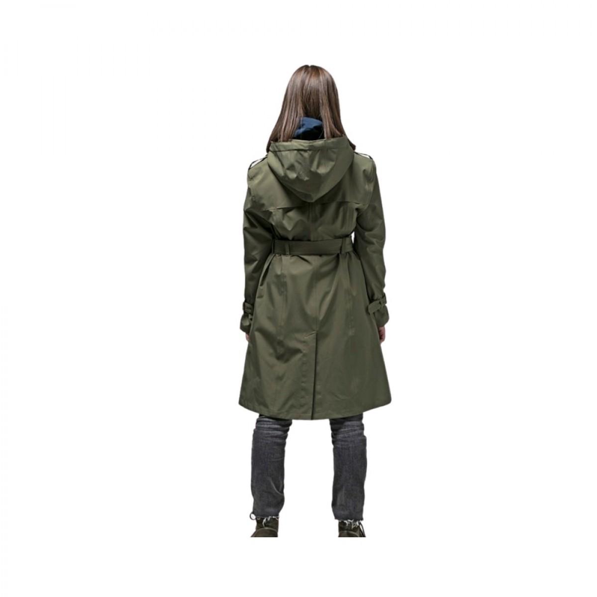 vigra regn frakke dark olive - model billede - bag