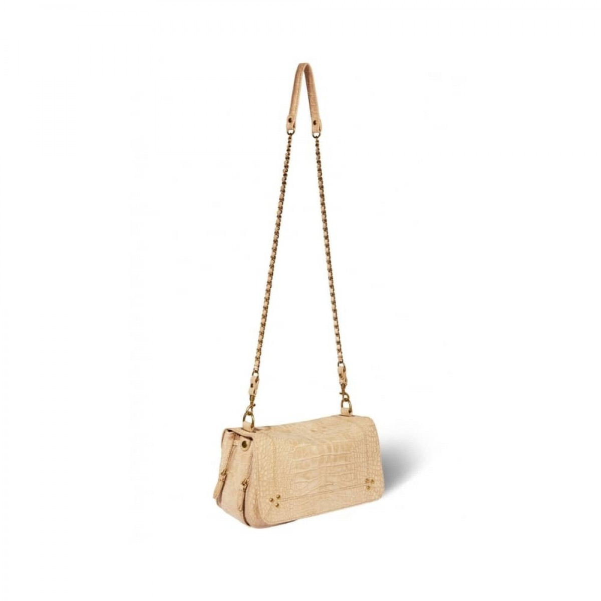 bobi taske - croco ficelle - med kæde