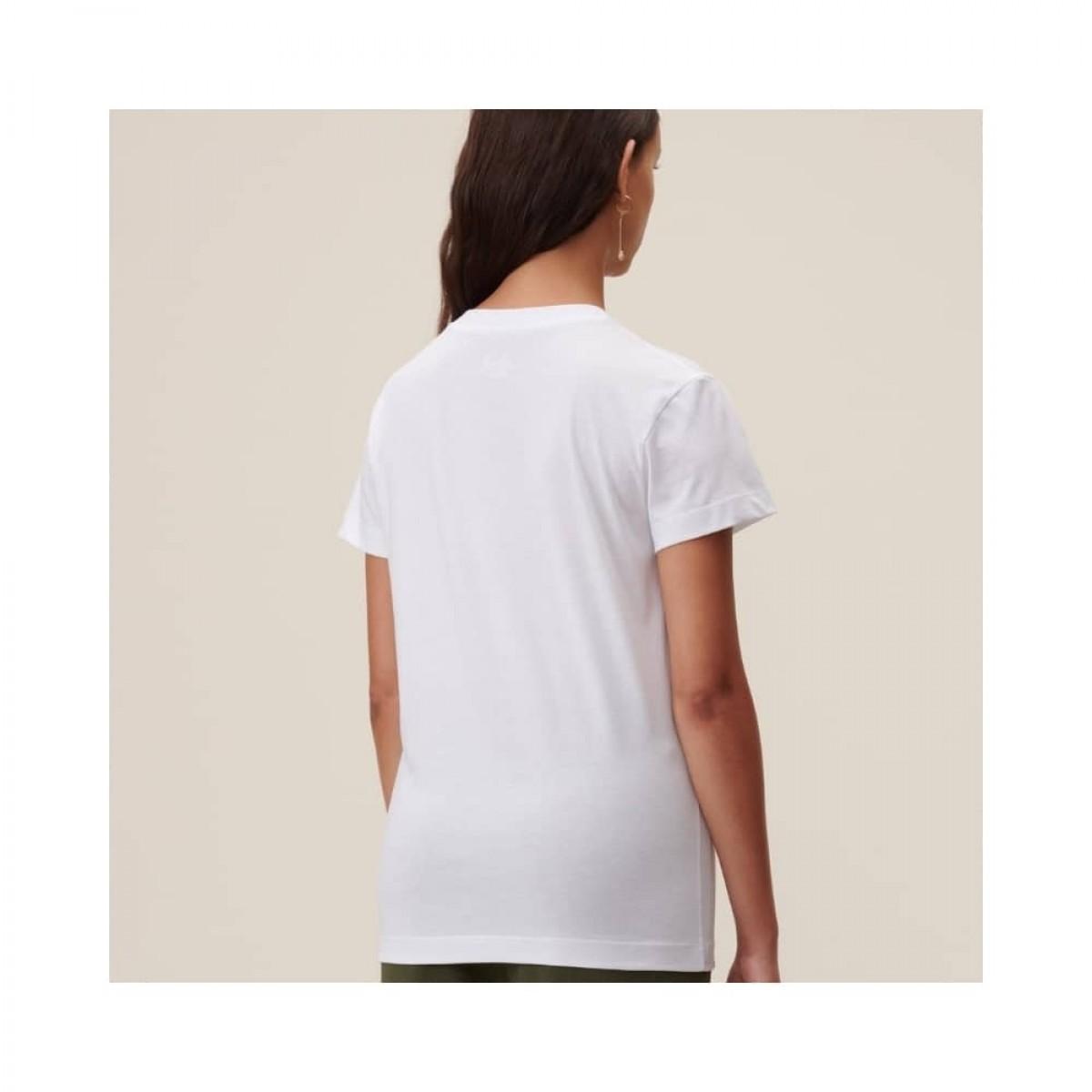 cara oasis t-shirt - white - model ryg