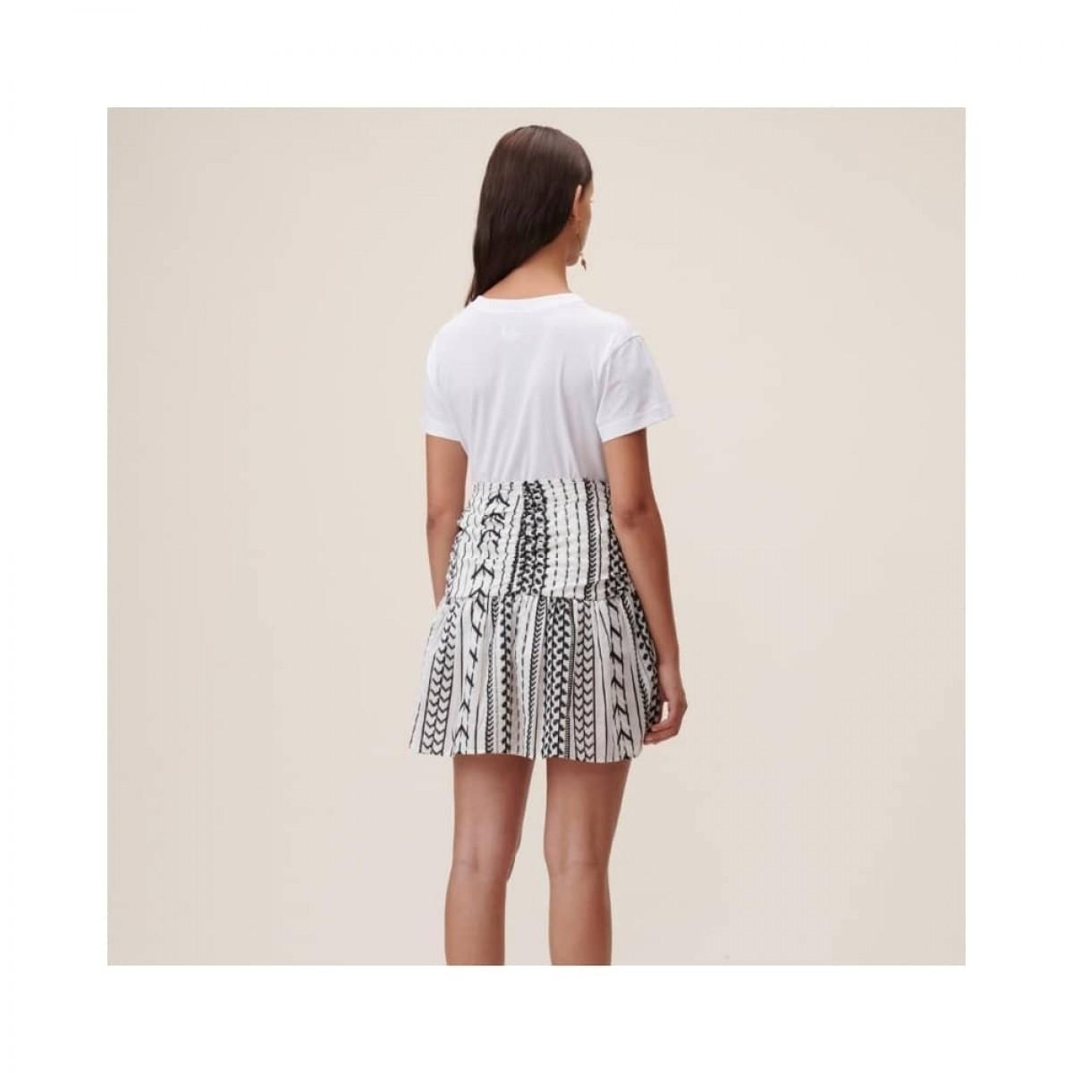 cara heart t-shirt - white - model ryg