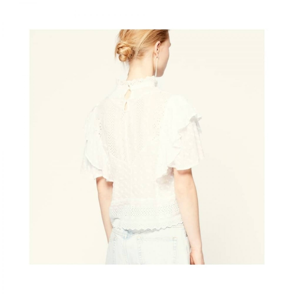 tizaina top - white - model ryggen