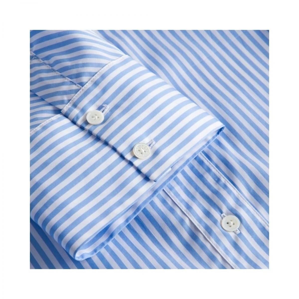 silje kort ærmet skjorte - light blue/white stripe - ærme