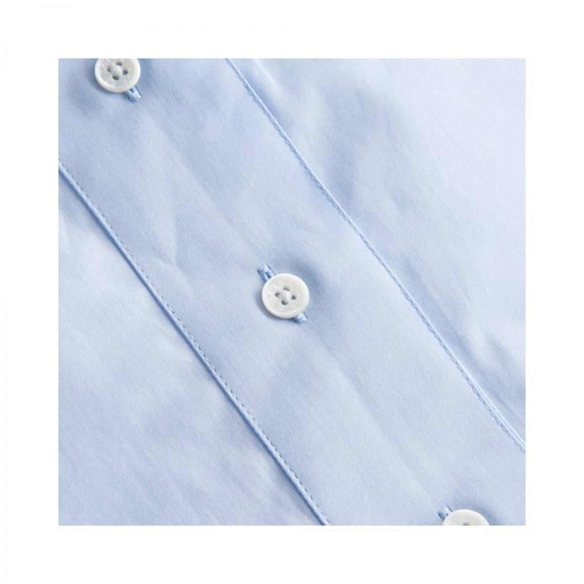 sera skjorte - light blue - knap detalje