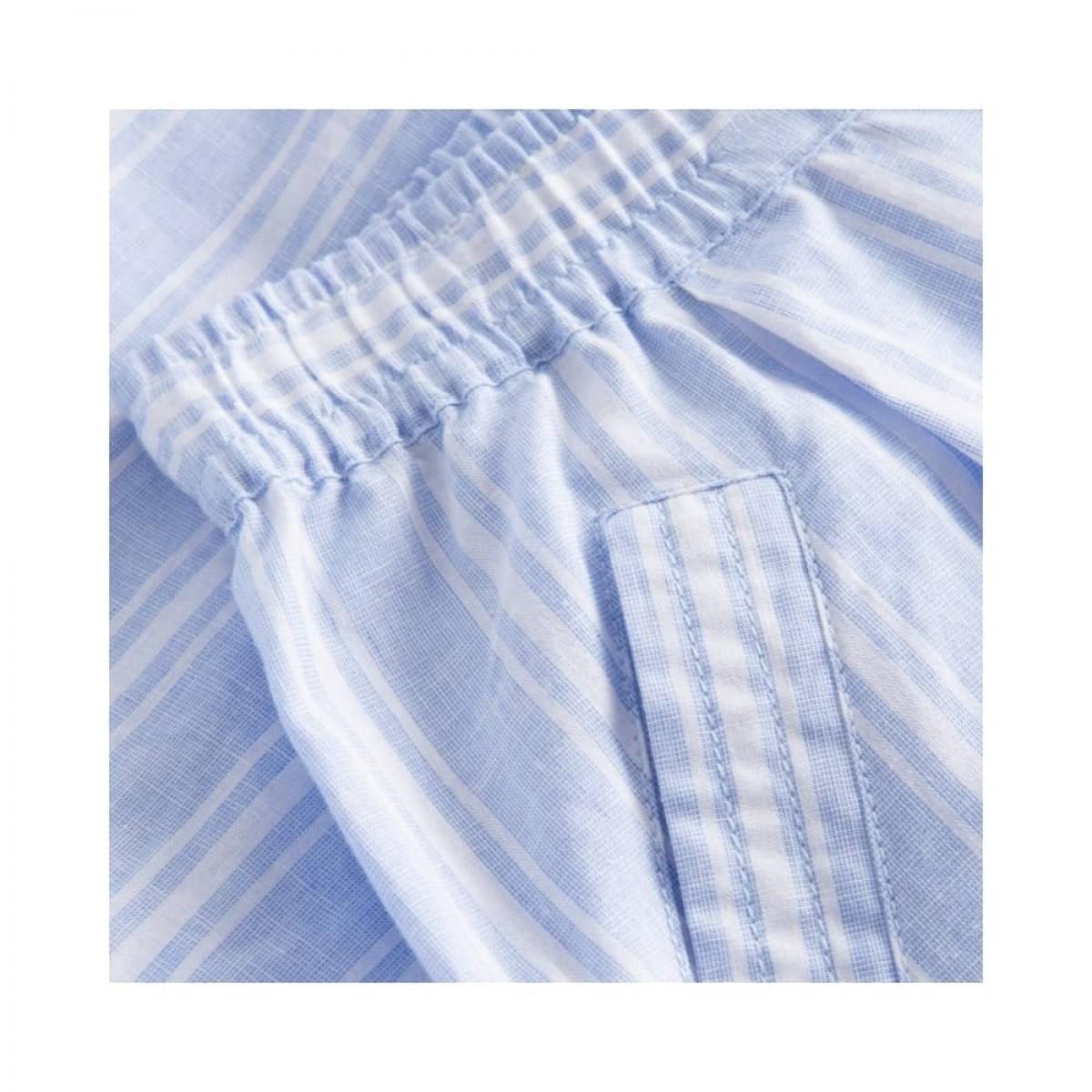 peony shorts - blue/white stripe - lomme detalje