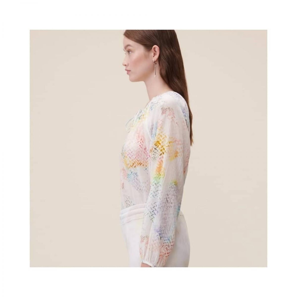 binia bluse - rainbow kufiya - model fra siden
