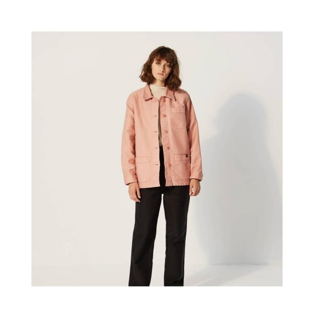 genuine work jacket - rose - model front