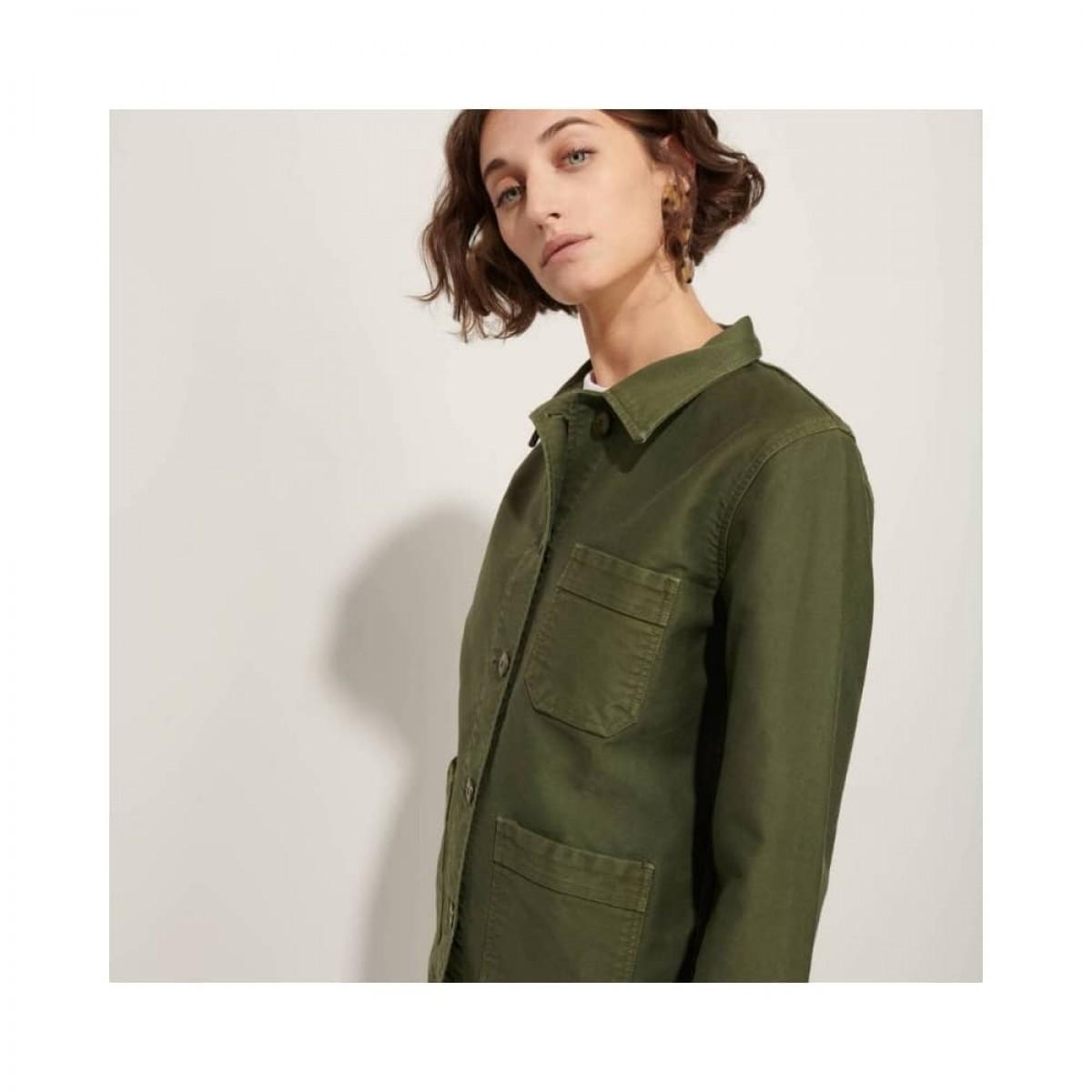 genuine work jacket - kaki - model fra siden