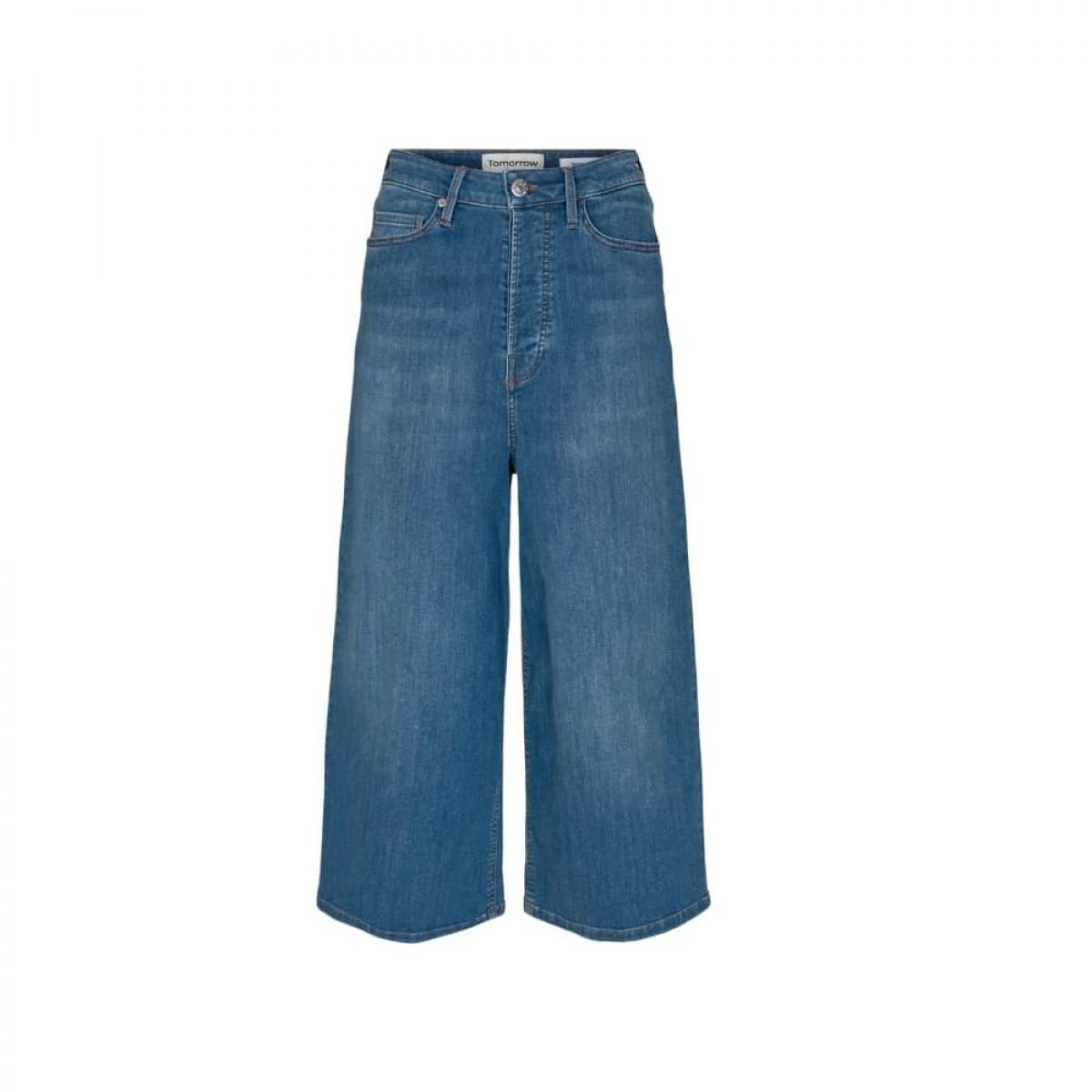 mandela culotte jeans - blue - front