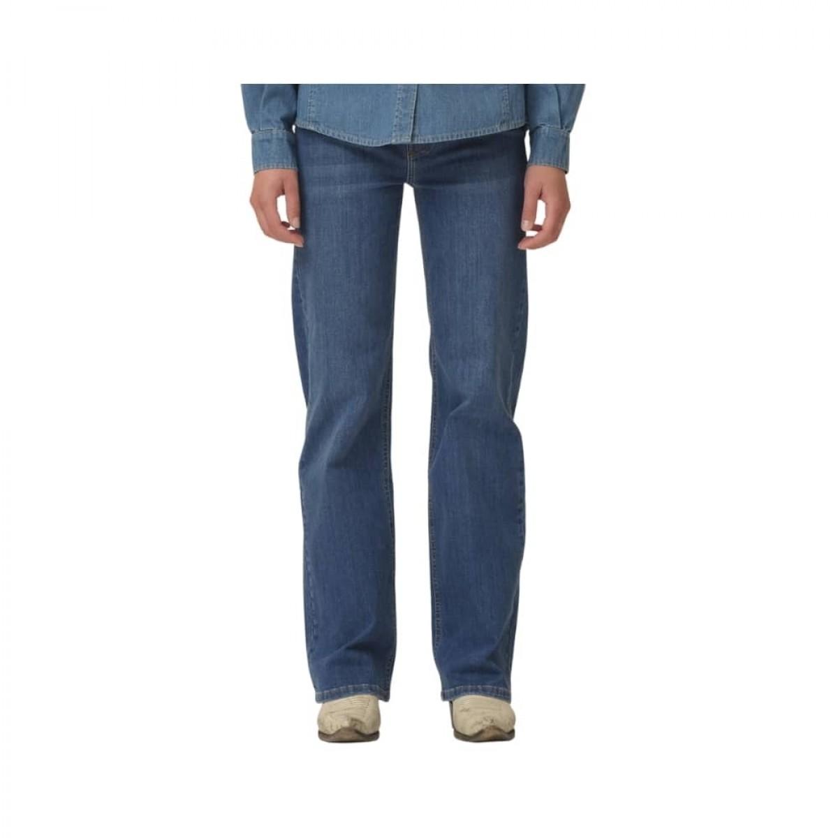 brown straight jeans - denim blue - ben detalje