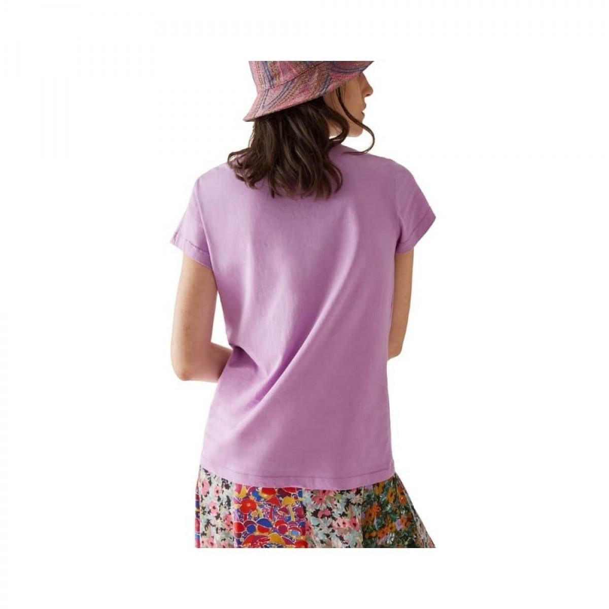 m missoni t-shirt - purple - model ryg