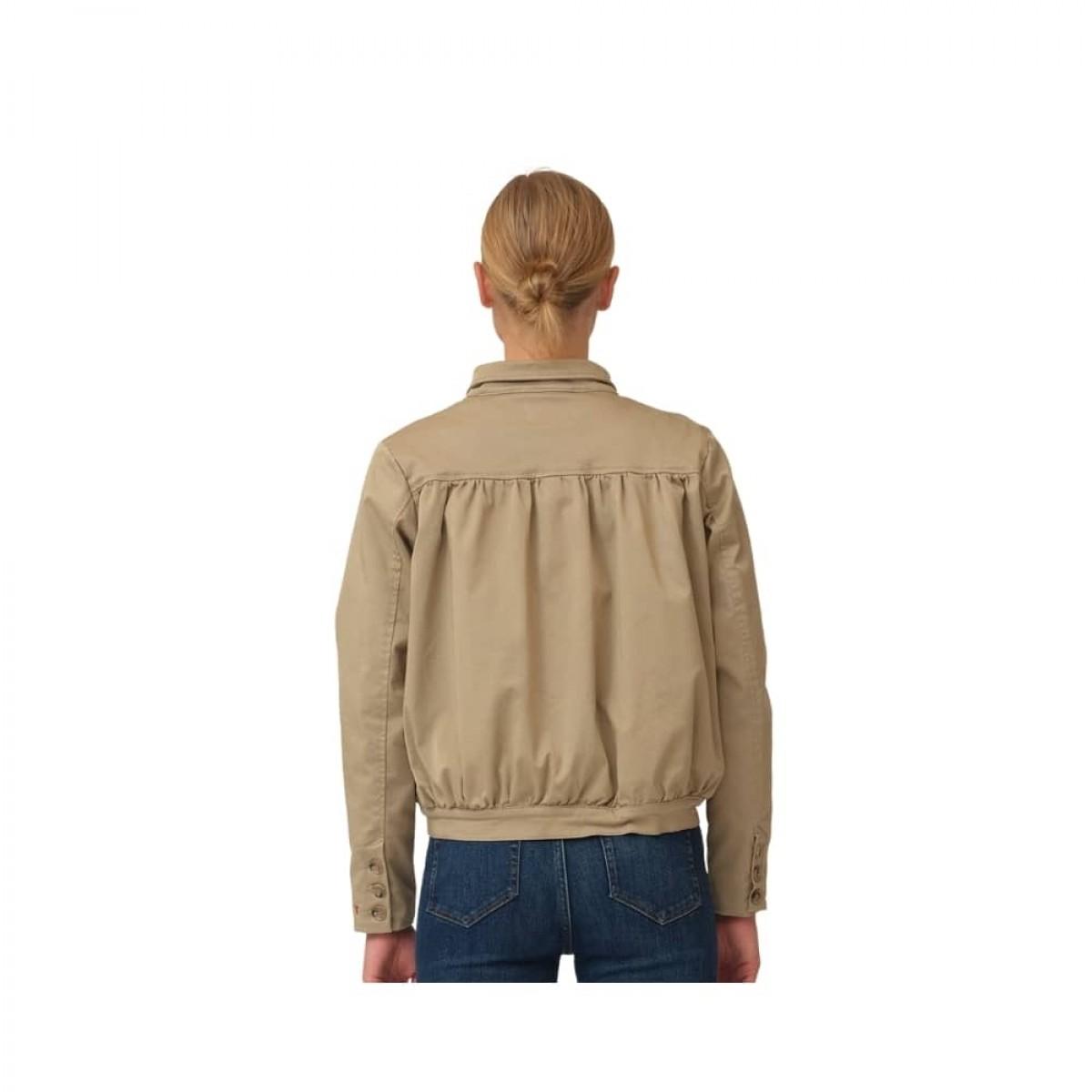 greta cropped jacket - camel - model ryg