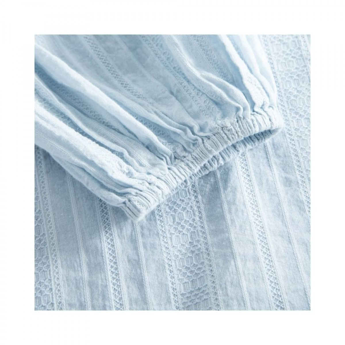 jordana dress - artic ice - ærme detalje