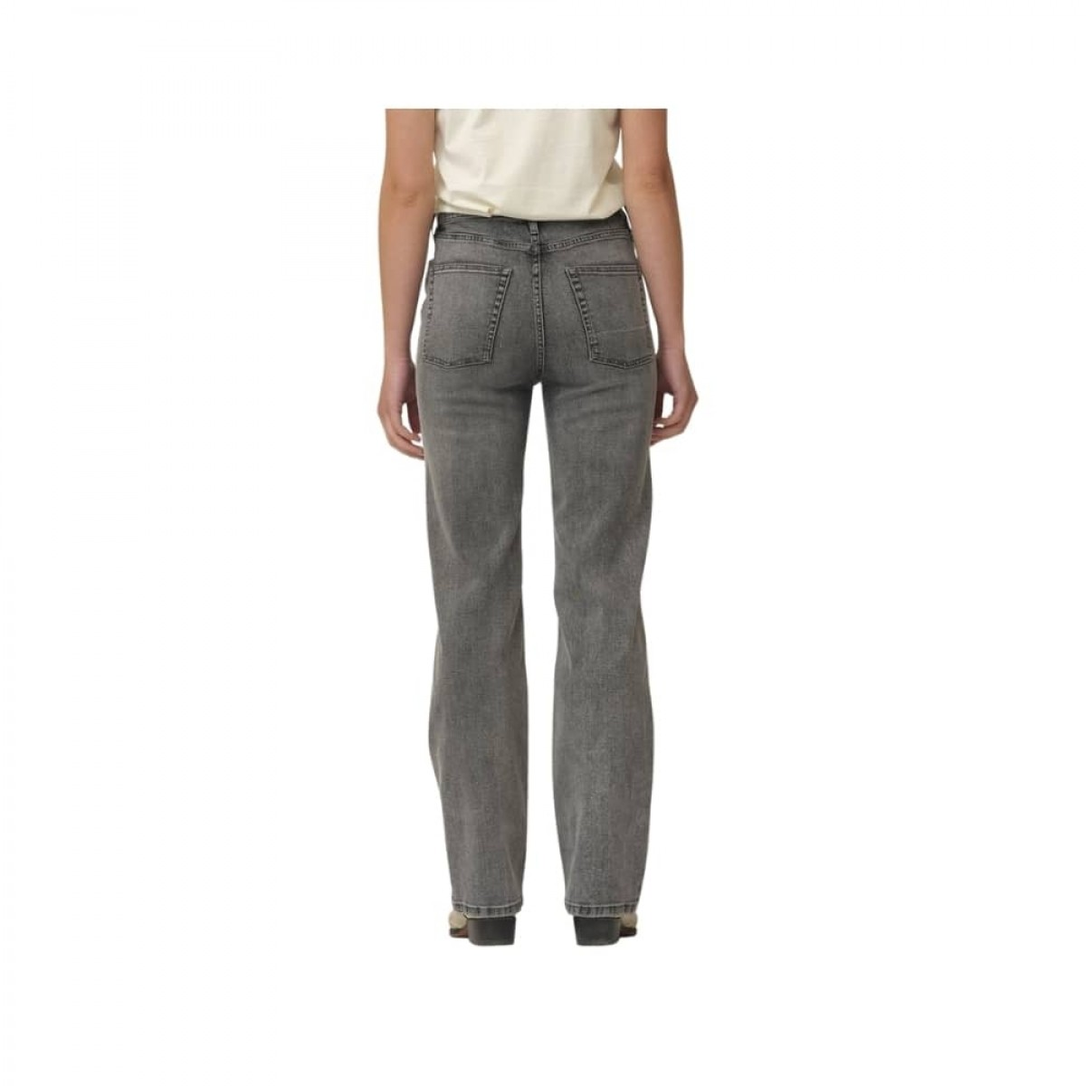 bowie hw cropped jeans - grey - model bagfra