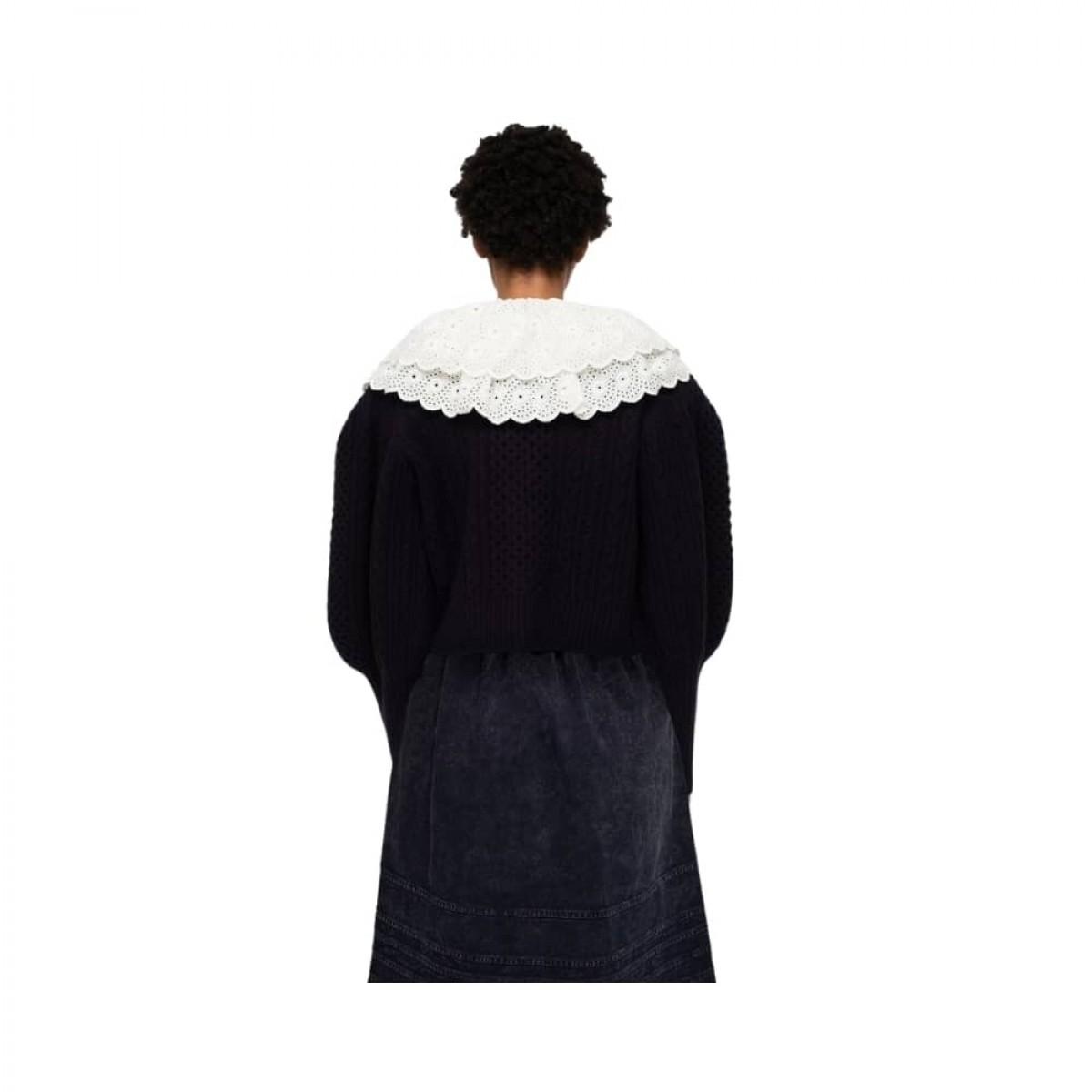 melanie cardigan - navy - model ryggen