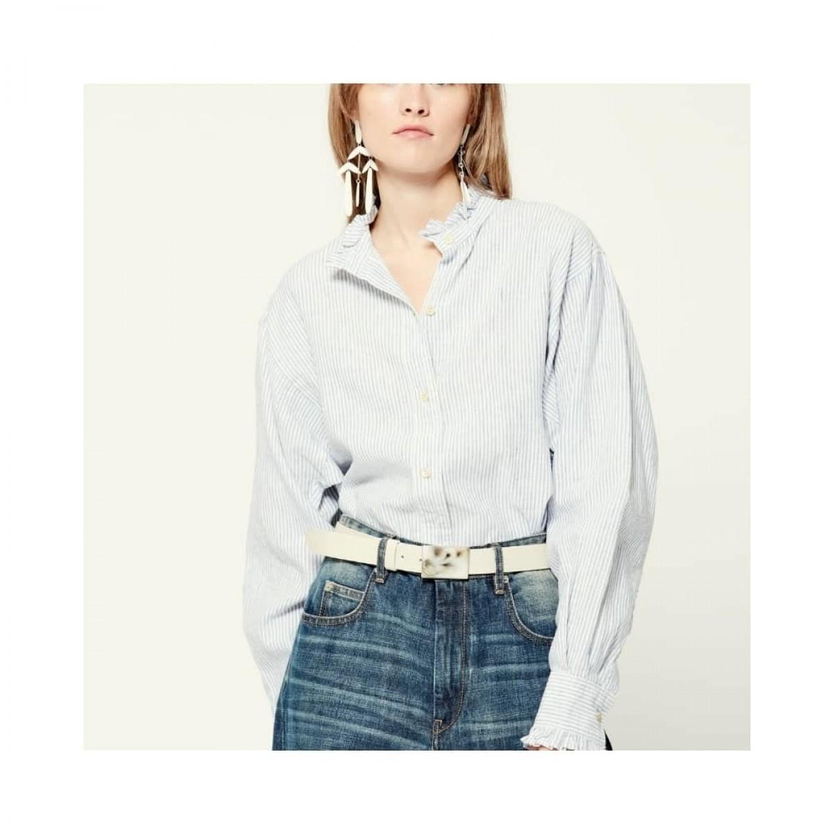 saoli skjorte - blue - front - model