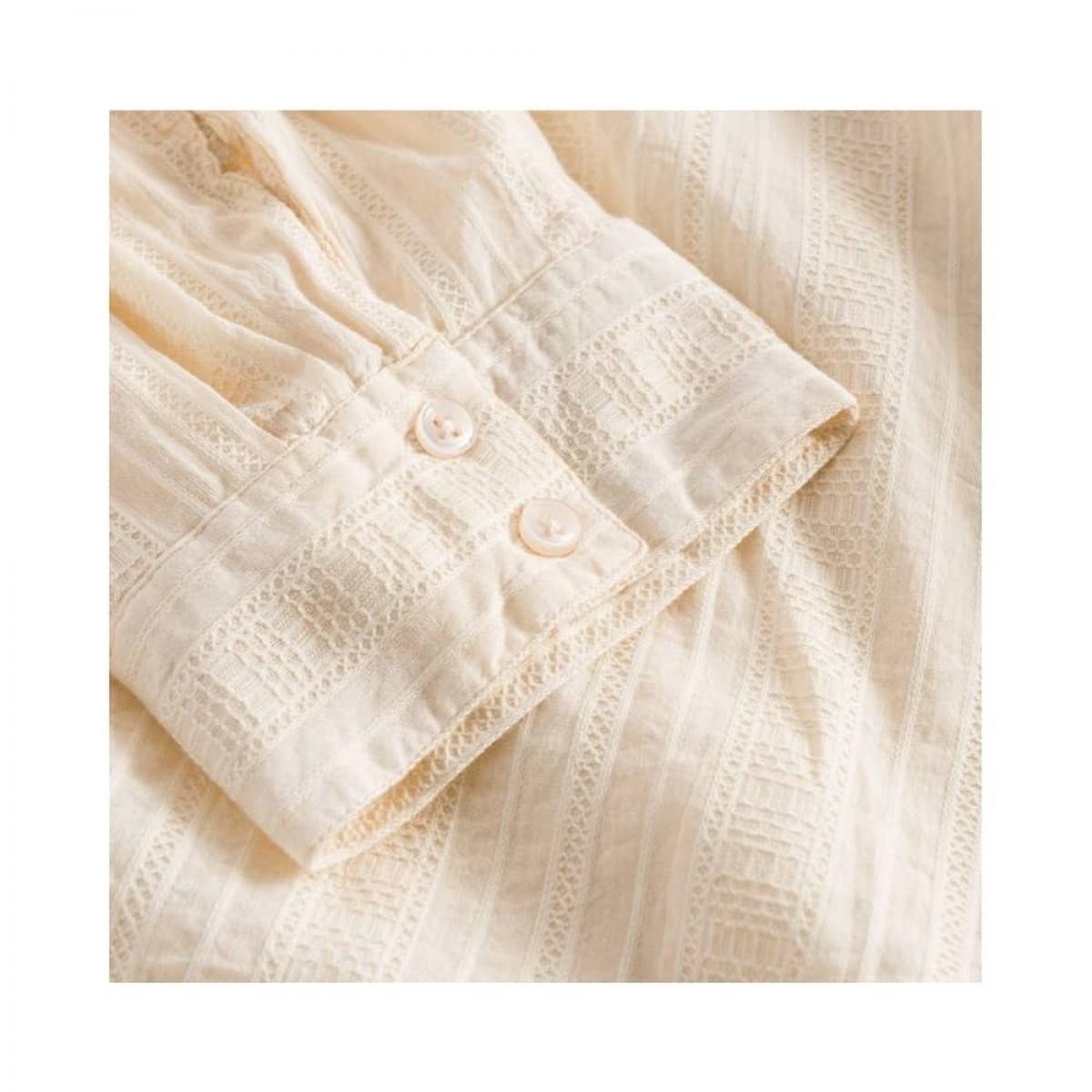 romala shirt - cream - ærme detalje